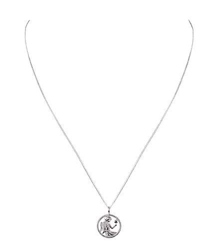 SIX Damen Halskette, Gliederkette, 925er Silber, Gliederkette, Horoskop, Sternzeichen, Jungfrau (386-268)
