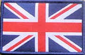 Sew-on Embroidered Patch Union Jack British Flag Badge Blue Border