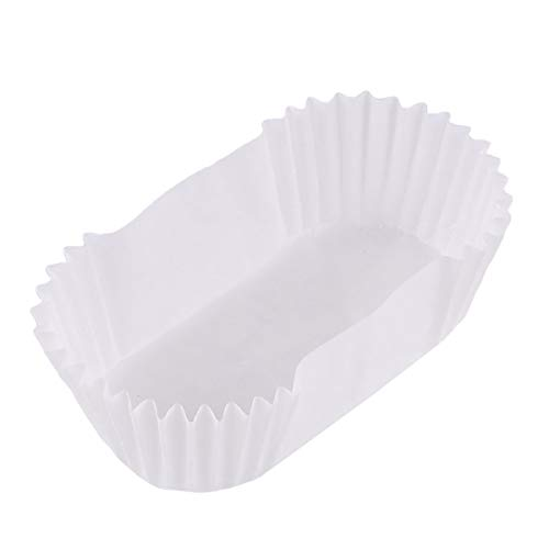 Cabilock 1000 Pcs Baking Cup Oval Cake Paper Tray Boat Shape Paper Cups High Temperature Cake Cup Bread Baking Cups Safe Grease Proof Cupcake Liners Perfect Cups for Cake Balls Muffins Cupcakes