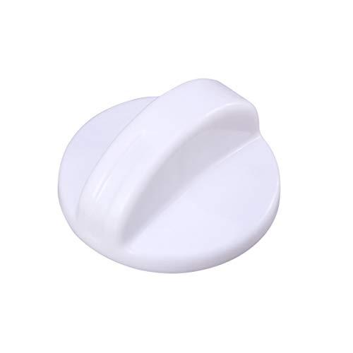 VOSAREA Zeitschaltuhr Knopf Waschtrockner Waschmaschine Drehen Zeitschaltuhr Knopf Universalschalter Knopf Ersatzteil (weiß)