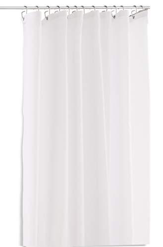 PHOS Design, Duschvorhang Pure, 200x220 cm (H x B), matt weiß, ideal für Duschstange L-Form 95x95-100x100 cm, antibakteriell, Anti-Schimmel-Beschichtung, waschbar, anti-statisch, 220x200, 2,2 x 2 m