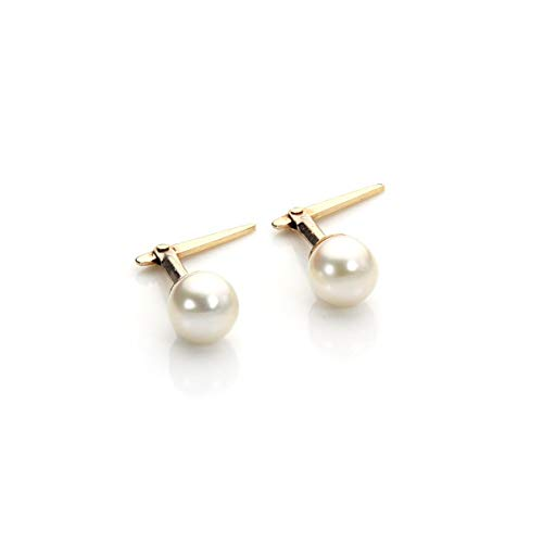 9ct Andralok Cultured Pearl Earring Studs - 4mm