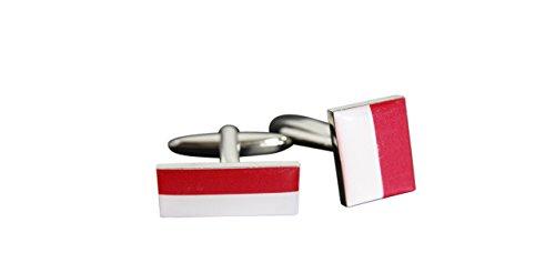 Flaggenfritze® Manschettenknöpfe Fahne / Flagge Monaco