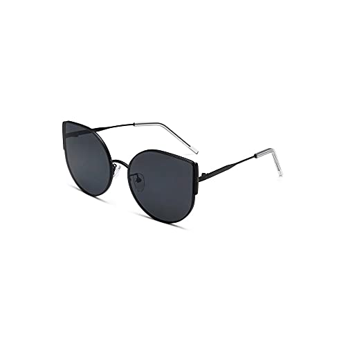 FEINENGSHUAI Nstyj - Gafas de sol para mujer, sin montura con lentes grandes, adecuadas para gafas de sol de mujer, adecuadas para salidas a largo plazo (color: negro)