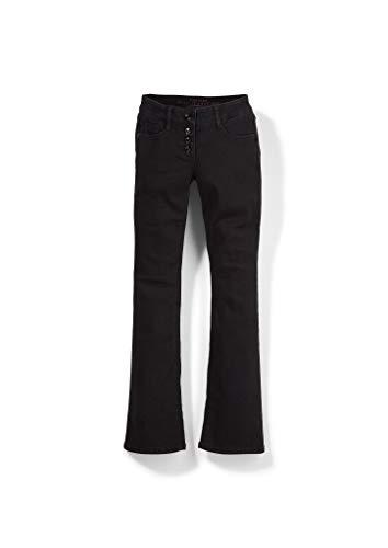 s.Oliver Mädchen Regular Fit: Flared Leg-Jeans black 140.REG