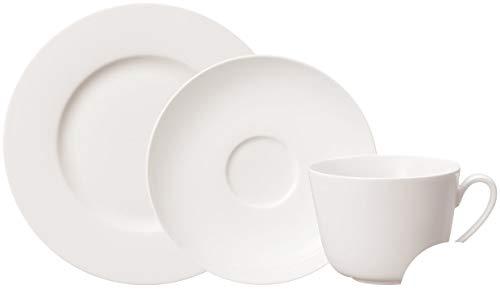 Villeroy & Boch - Twist White Kaffee-Set, 18 tlg., zeitloses Kaffeeservice, Premium Porzellan, spülmaschinen-, mikrowellengeeignet, Weiß