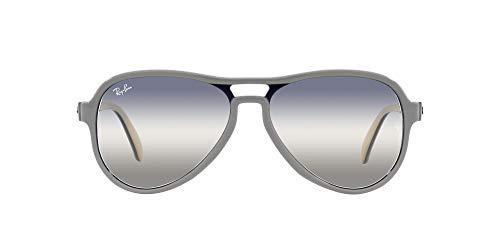 Ray-Ban 0RB4355 Gafas, Light Grey Blue Light Brown, 58 Unisex Adulto
