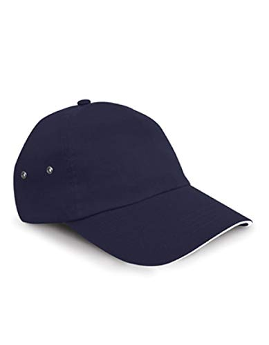 Result headwear-imprimantes plush cotton 5 panel casquette pour homme bleu marine