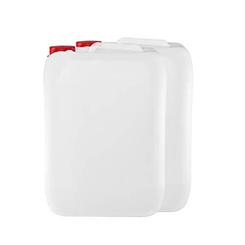 Garrafa bidon de plastico de 25 litros homologado ADR boca ancha ideal para agua gasolina y químicos también como deposito para aire acondicionado / camping / furgoneta camper / (2)