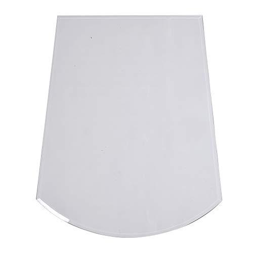 FIREFIX 1957/1 Glasbodenplatte (Hitzeschutz Ofen), Trapezform-Bodenplatte (800 x 1.200 x 1.000 mm), 8 mm Starkes Klarglas (Sicherheitsglas ESG) mit Facettenschliff (20 mm, umlaufend), Transparent