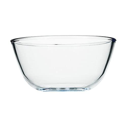 Fengshop Cuencos Ensalada Transparente Cocina un tazón tazón de Vidrio de Cristal Food Bowl tazón for la decoración casera 1Pc Cuencos para Postre