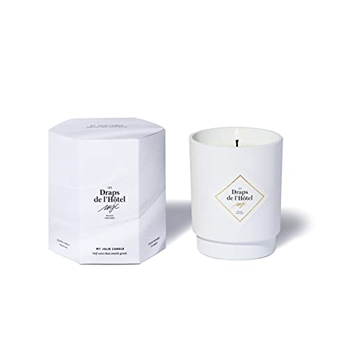 My Jolie Candle, candela profumata in cotone bianco – Le lenzuola dell'hotel, cera naturale 100% vegetale, 50 ore di combustione, profumo francese, 250 g