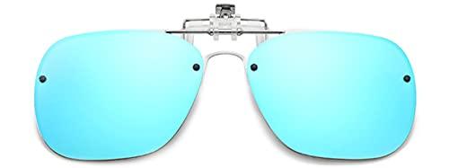 Embryform Gafas de sol con clip,Gafas de sol polarizadas UV400 para hombre y mujer, ajuste cómodo y seguro sobre gafas de sol Gafas de sol con clip en la lente polarizada Flip Up