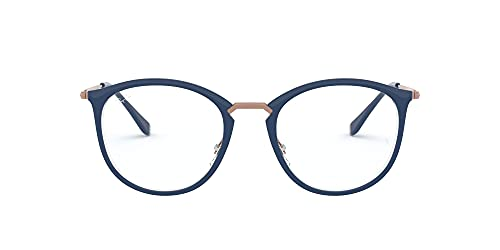 Ray-Ban 0RX7140 Monturas de gafas, Transparente On Top Blue, 49 Unisex