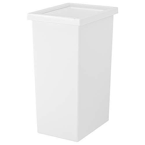 Cubo de basura IKEA FILUR con tapa 29x38x55 cm blanco