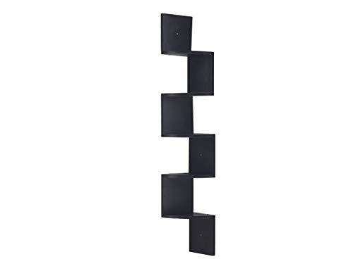 RongFeng Estantes de esquina de montaje en pared de 5 niveles, estantes flotantes, acabado espresso, 19,2 cm de largo x 19,2 cm de ancho x 122,7 cm de alto.
