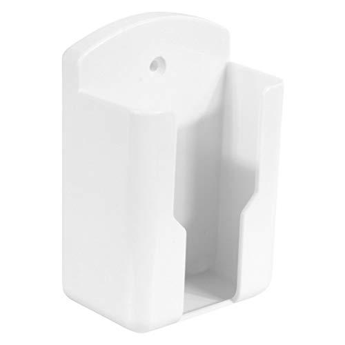 VOSAREA Soporte para mando a distancia, organizador de pared, caja de almacenamiento, para aire acondicionado, TV, estéreo, teléfono, oficina, dormitorio, color blanco