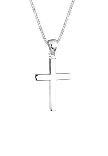 Elli Women 925 Sterling Silver Xilion Cut Pendant Necklace, 45 cm