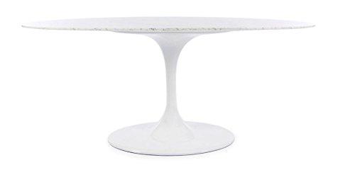 Beistelltisch Eero Saarinen TULIP oval 199x121 Arabescato Vagli Marmor - weiß
