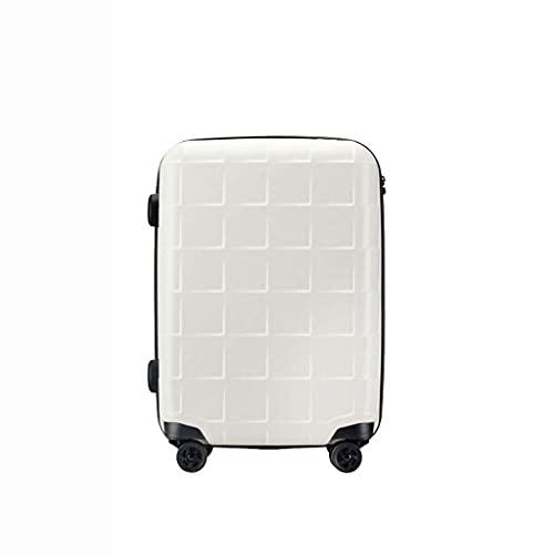 Pull Suitcase, Maleta de Viaje, Maleta de Estilo británico, Inserción de bolsita para jóvenes Estudiantes internacionales (Color: Blanco, Talla: 26)