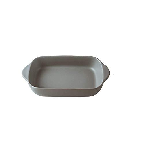 GaoF Vajilla Platos de Porcelana para Horno Plato de Horno de 0,5 Cuartos Bandeja para Hornear para cazuela de lasaña, etc.Regalos 23X12.5X4.5cm (Color: Verde)