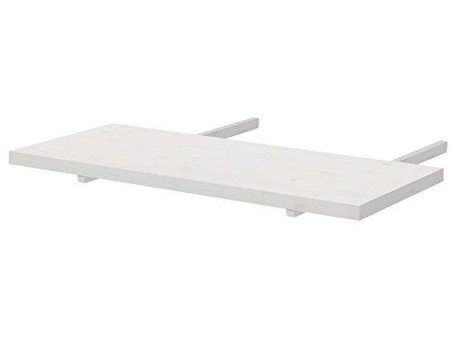 Loft24 ikolai 2X Ansteckplatte Esstisch Ausziehplatte Tischerweiterung Tischplatte Tischverlängerung 90x40 cm Kiefer Massivholz weiß