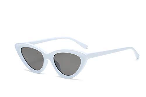 YOJUED CatEye - Gafas de sol para mujer, diseño retro con ojos de gato, protección UV, color Blanco, talla Einheitsgröße