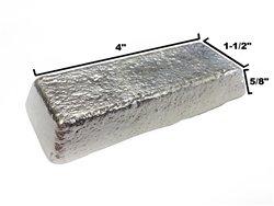 RotoMetals Lead Free Pewter - Alloy R-92 Casting Ingot 92% Tin, 8% Antimony