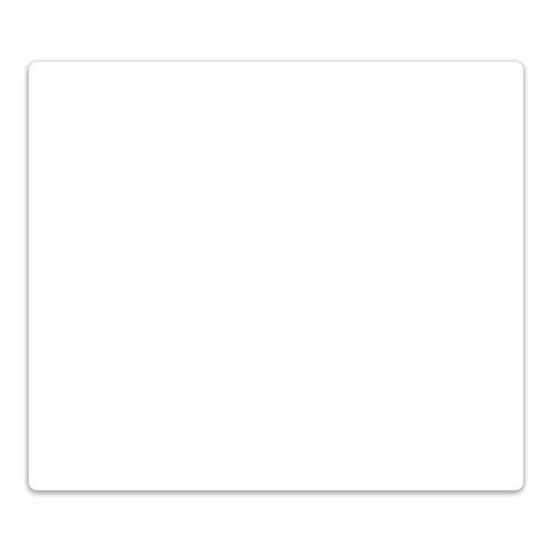 decorwelt Couvercle en Verre pour plaques vitrocéramiques, plaques de Cuisson à Induction, Plaque en Verre de sécurité, Protection Contre Les Projections Blanc, 60x52 cm