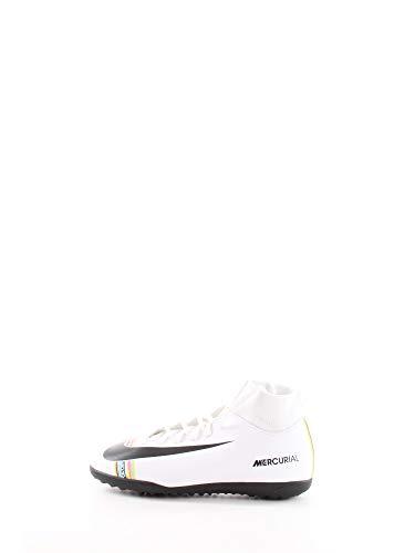 Nike Jr Superfly 6 Club Tf, Scarpe da Calcetto Indoor Unisex-Bambini, Bianco (White/Black/White 000), 37.5 EU
