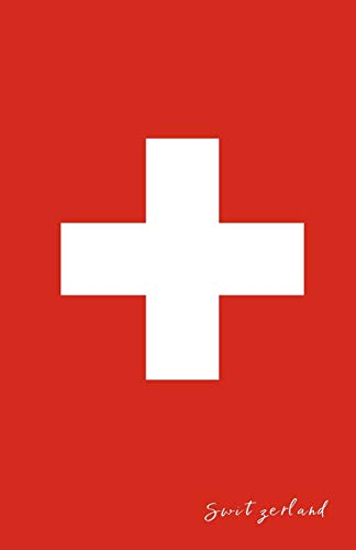 Switzerland: Flag Notebook, Travel Journal to write in, College Ruled Journey Diary