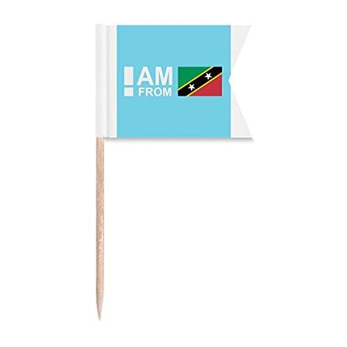 I Am from Kitts Nevis Zahnstocher Flaggen Markierung für Party Kuchen Lebensmittel Käseplatte