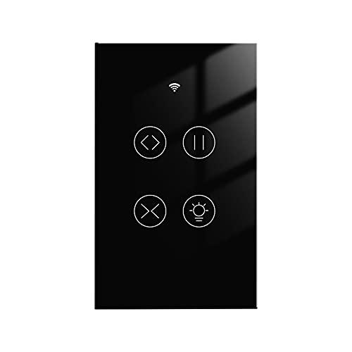 SOBW WiFi Smart Touch, tenda a 2 marce, interruttore per tapparelle, motore elettrico Smart Life App Echo, controllo vocale, funziona con Google Home Alexa