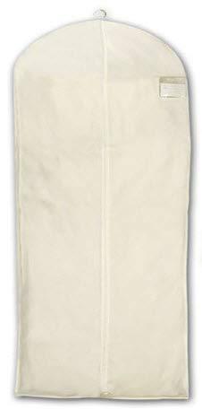 HBCOLLECTION - Custodia Copertura per Indumenti Vestiti Formato Lungo (Cappotto, Vestito .) Cotone Bianco