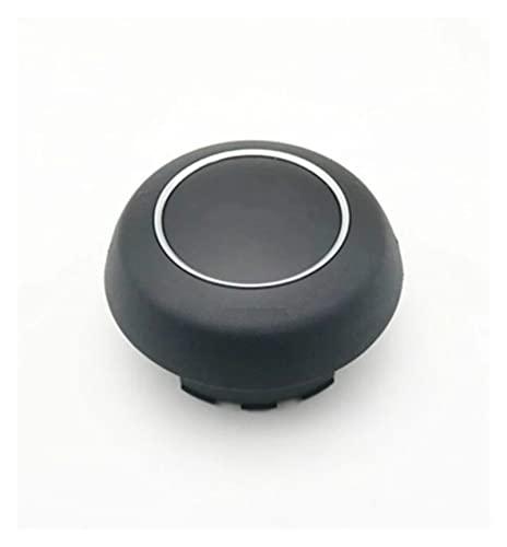 ZHANGXL XELIAN Accesorios para automóviles FIT FOR Audi A1 A6L A7 Tapa del botón de la bocina con Emblema (Color : Black)