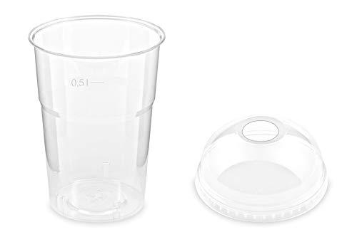 600 vasos de batido y tapa con apertura de 500 ml, diámetro...