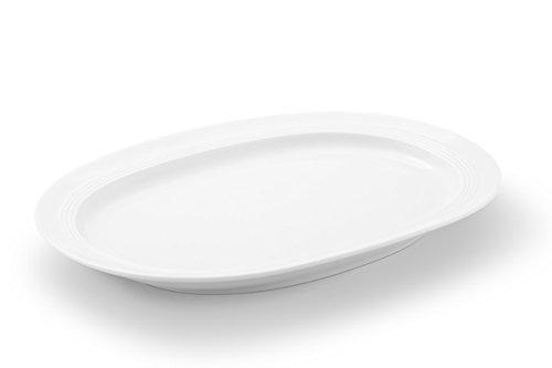Friesland Porzellan Platte 33cm Jeverland Weiß