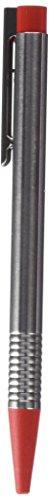 LAMY logo Kugelschreiber 205 – Kuli aus rostfreiem Edelstahl in der Farbe Matt-Rot mit integrierter Clip-Drücker-Einheit – Mit Großraummine – Strichbreite M