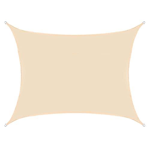WZDD 2x5m Rectángulo Toldo Vela De Sombra, Impermeable Protección Rayos UV Vela De Sombra, Transpirable Toldos, Vela De Sombra Cuadrado para Patio, Exteriores, Jardín