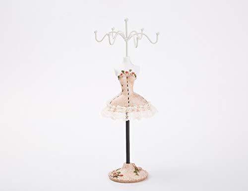 Batreetek ジュエリー収納 スタンド アクセサリースタンド 樹脂 ドレス型 ピアス 吊りネックレス チェーン 飾り物 小物 指輪 イヤリング収納 レディース ーガナイザ 25cm (#7)