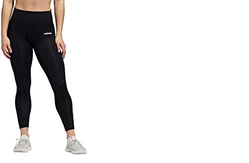 adidas Women's 7/8 3S 3 Stripes Training Tights Black (Black, Large)