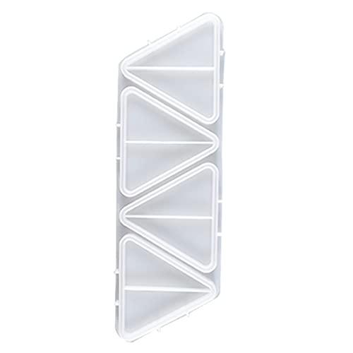 YUZI plato triangular multiusos molde de resina epoxi bandeja de almacenamiento de frutos secos molde de silicona manualidades DIY molde de decoración del hogar