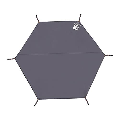 Hellery Lona Impermeable para Acampar Ligera para Cubrir el Sol o la Lluvia, Gran Huella de Lona para Carpa compacta para el Suelo o Debajo de la Carpa - Los 220x260cm