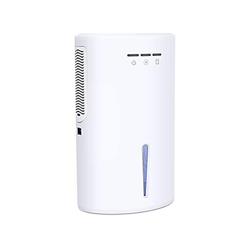 Mini deumidificatore elettrico compatto con piccolo deumidificazione di piccolo deumidificazione per bagni seminterrato camera da letto casa cucina armadio rv ( Color : White , Dimensione : One Size )