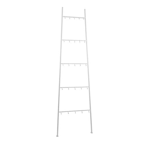 House of Seasons Decoratie Ladder wit: 50 x 4 x 167 cm