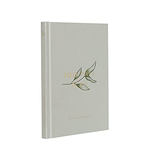 JO und JUDY Achtsamkeitstagebuch '100 days of me' - Mindfulness Tagebuch mit Goldfolienprägung - 12,2 cm x 16,4 cm - 108 Seiten