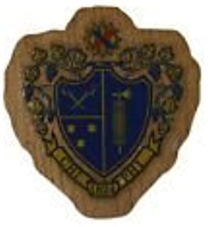 Chi Phi Fraternity Wood Crest Made of Wood for Paddle Mascot Board (1.5 Inch Tall Single Raised)
