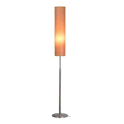 YLSH robuuste vloerlamp met voet, eenvoudig, Nordic vloerlamp, rond, LED, lampenkap van smeedijzer, verstelbare arm