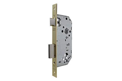 Tesa Assa Abloy 403050HL Cerradura De Embutir Para Puertas De Madera Sin Cilindro Latonado Entrada 50 mm, Frente Cuadrado 4030