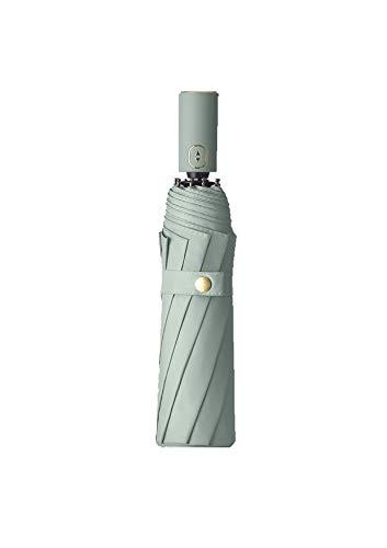 Faltbarer Regenschirm, automatisch, für Regen, Schnee und Sonne, winddicht, kompakt, mit UV-Schutz, Grün